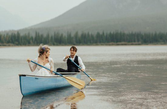 banff alberta wedding photo