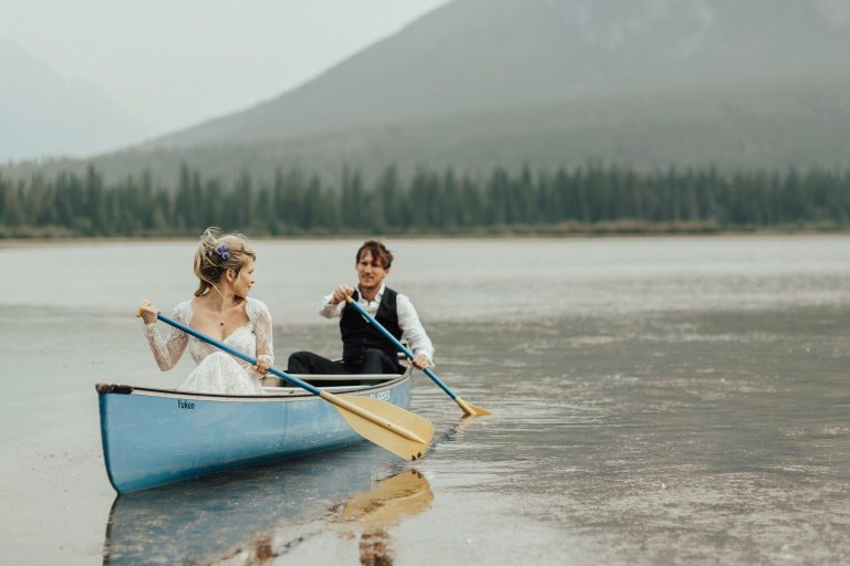 banff alberta wedding photo