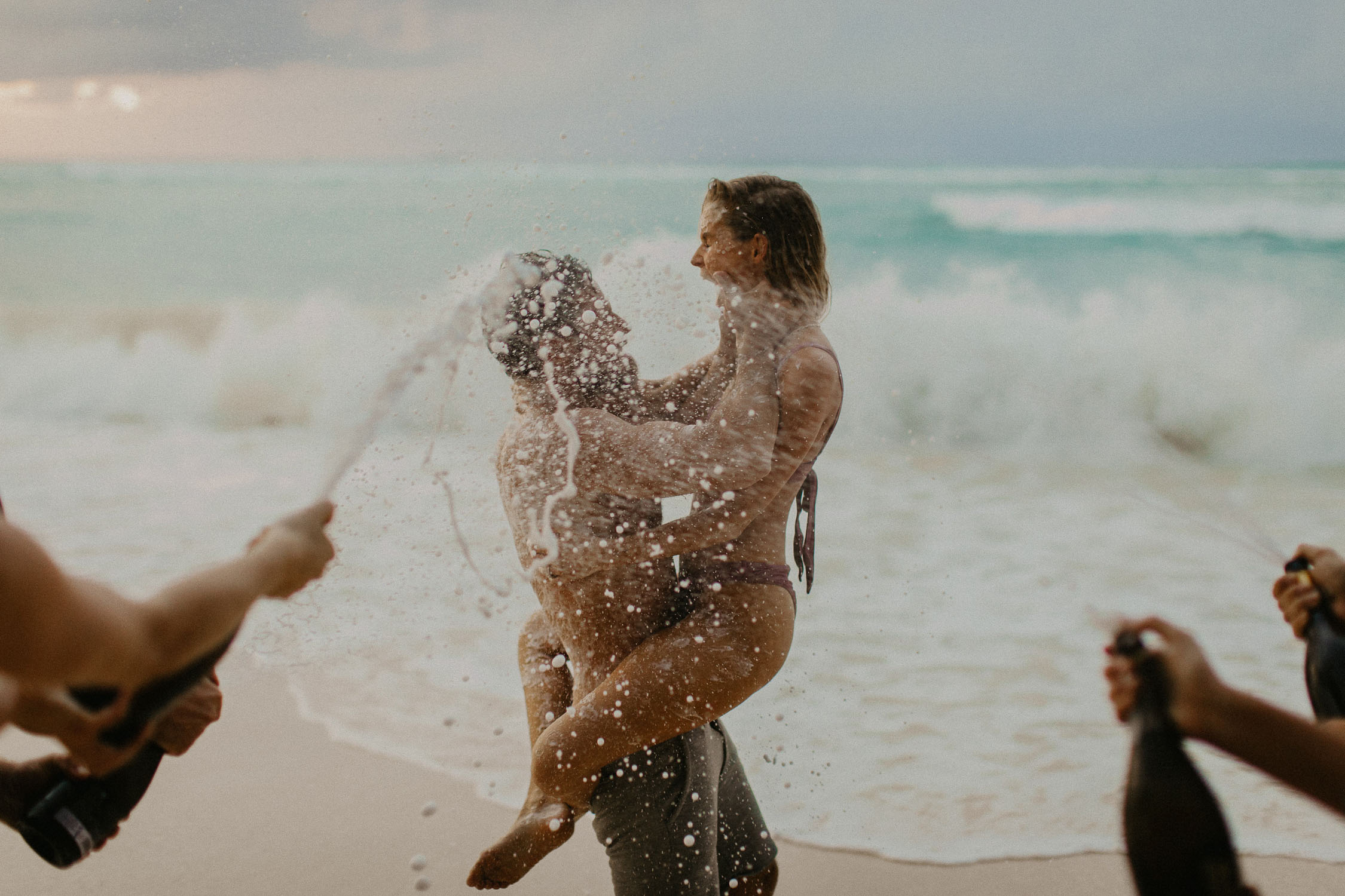 grand cayman beach engagement