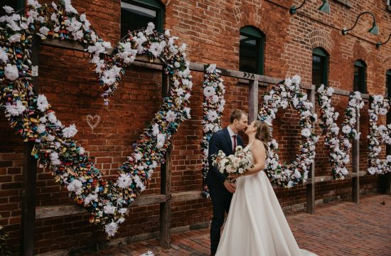 distillery district toronto wedding photo