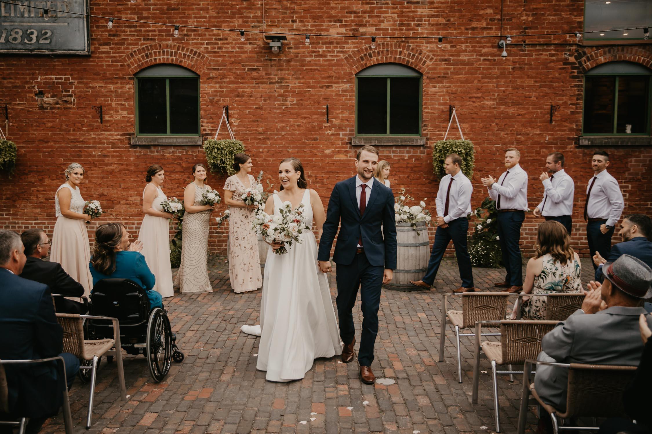 distillery district toronto wedding photo