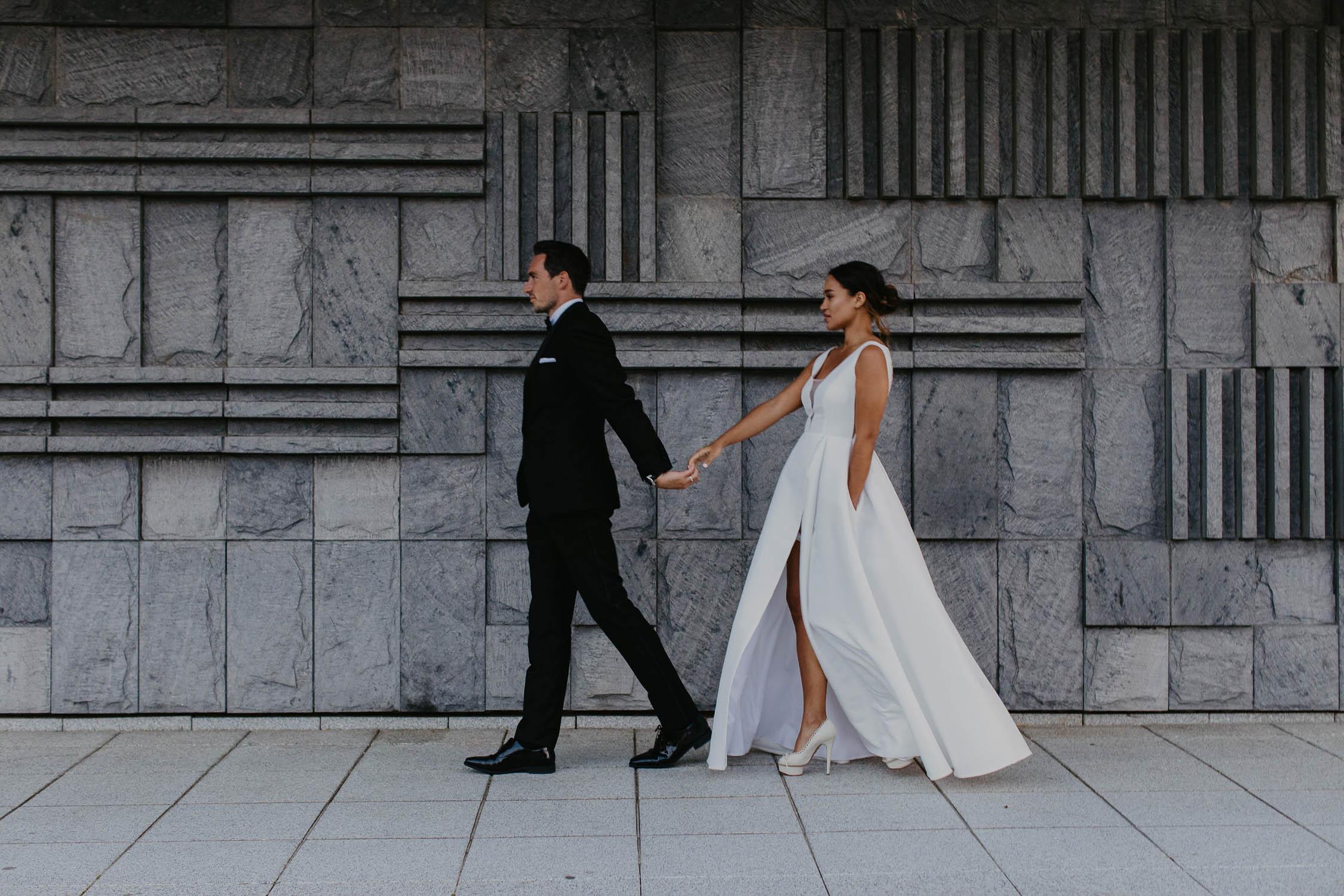 bride and groom in rostock germany wedding