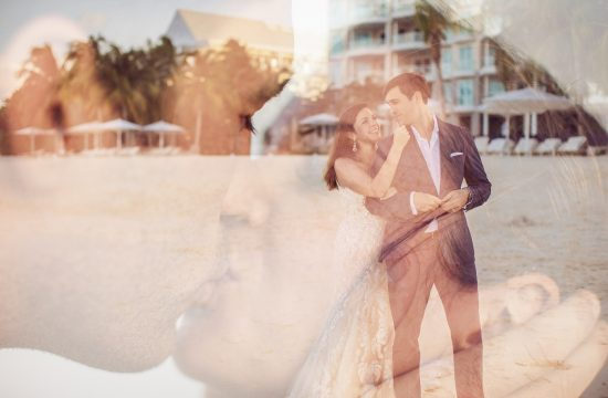 cayman beach wedding photo