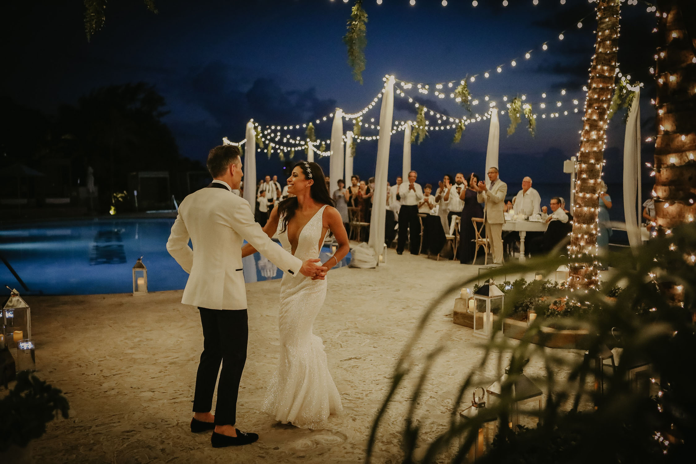 beautiful bride in destination beach wedding cayman islands