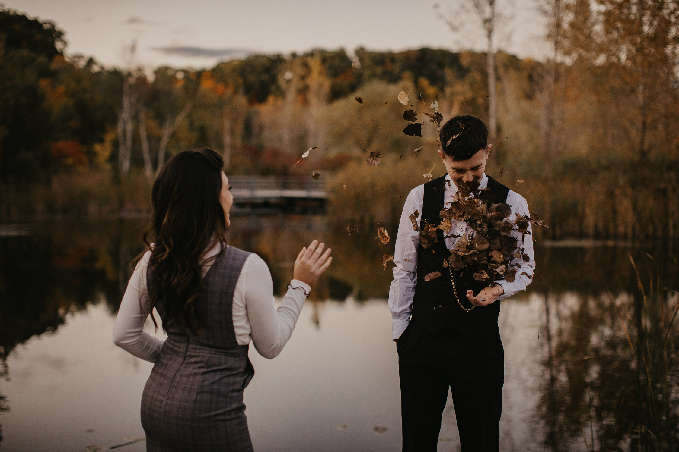 toronto evergreen brick works engagement photo