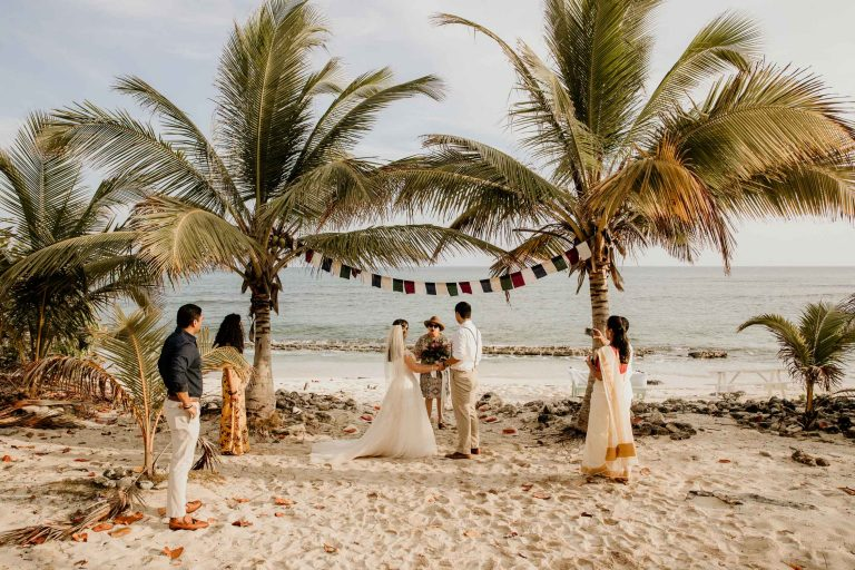 grand cayman beach elopement photo